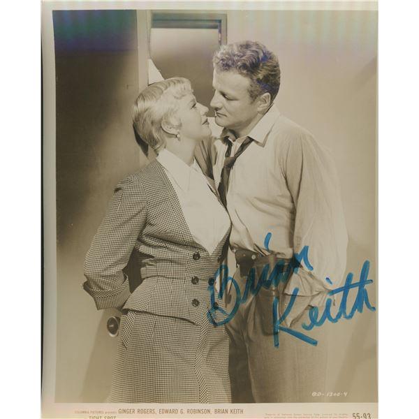 "Brian Keith signed ""Tight Spot"" movie photo"