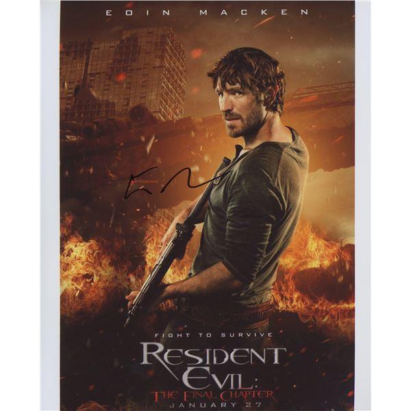 "Eoin Macken signed ""Resident Evil: The Final Chapter"" movie photo"