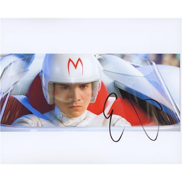 "Emile Hirsch signed ""Speed Racer"" movie photo"