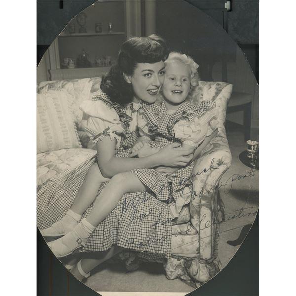 Joan Crawford signed photo