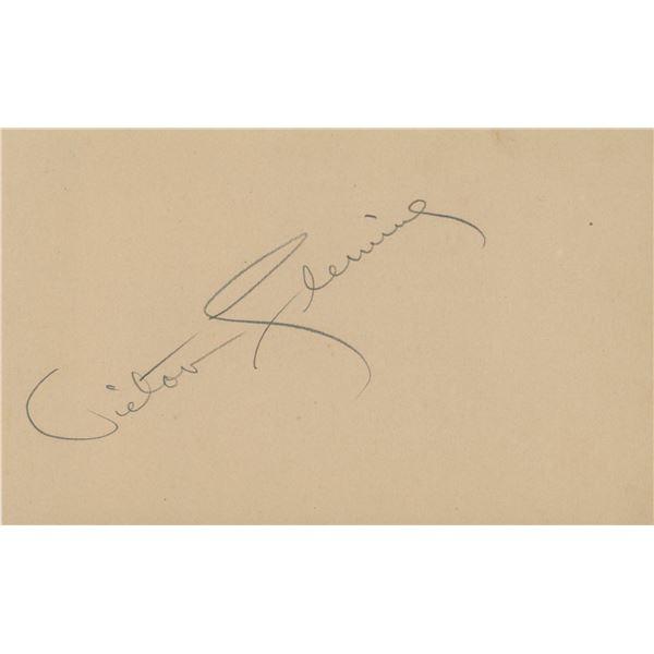 Victor Fleming original signature