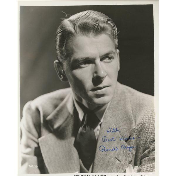 Ronald Reagan signed movie photo