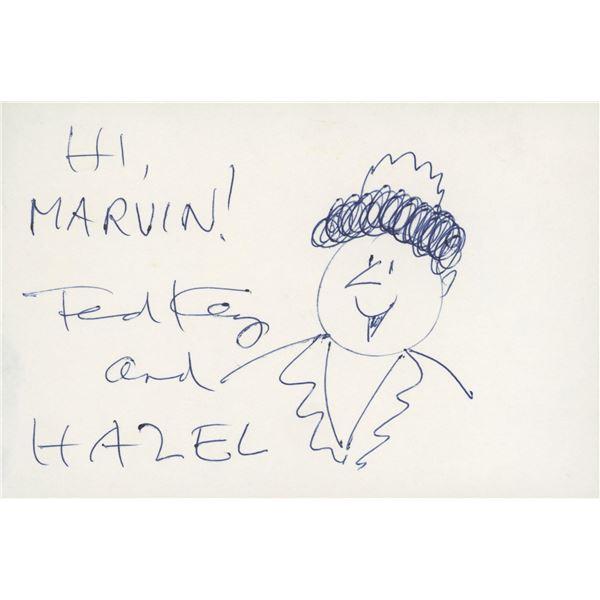 Hazel comic original hand drawn signed sketch