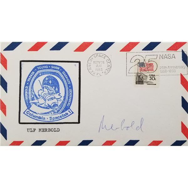 Ulf Merbold signed Columbia Spacelab 1 envelope