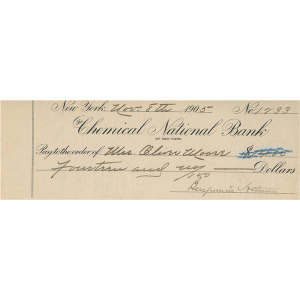 B. Altman signed check