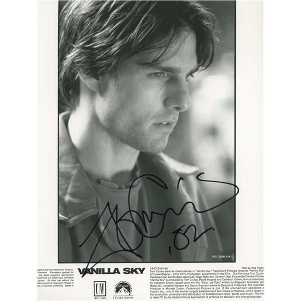 Tom Cruise signed Vanilla Sky photo