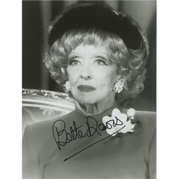 Bette Davis signed photo