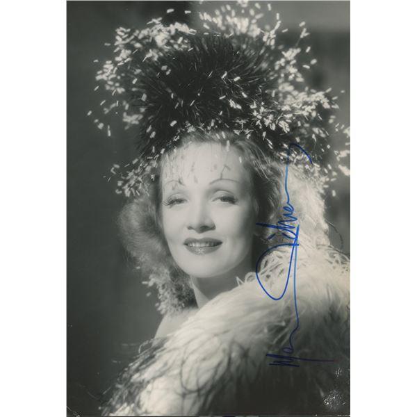 Marlene Dietrich signed photo
