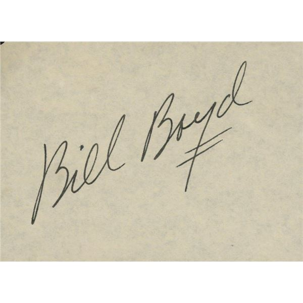 Bill Boyd signature cut