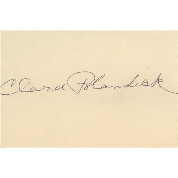 Clara Blandick Aunt Em Wizard of Oz signature cut