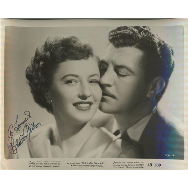 "Robert Preston signed ""The Lady Gambles"" movie photo"