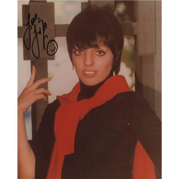 Liza Minnelli signed photo