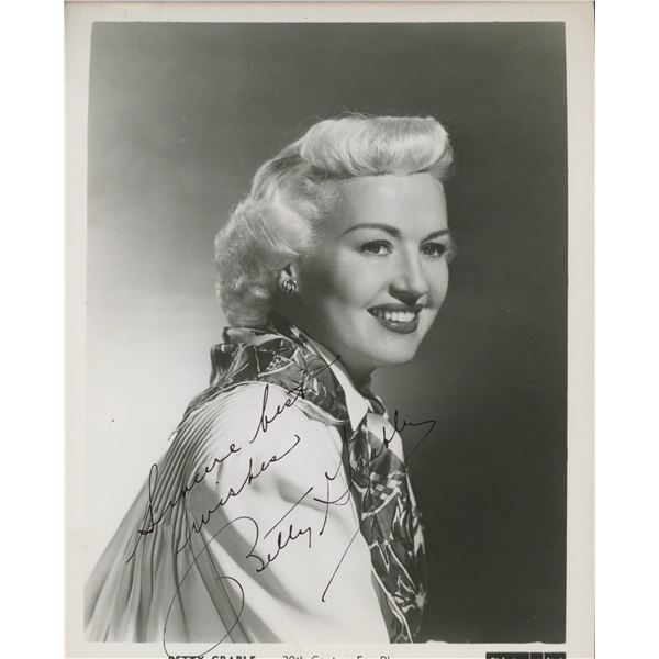 Betty Grable signed photo