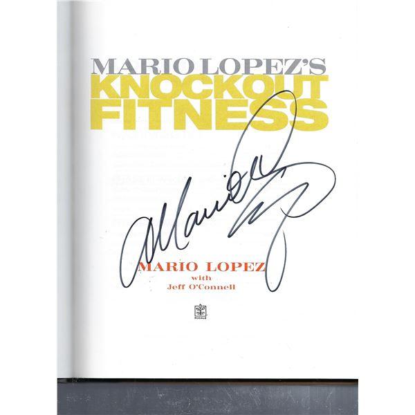 Mario Lopez signed book