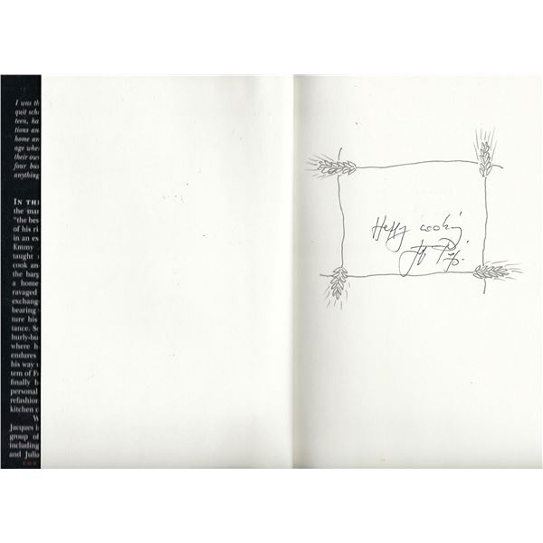 The Apprentice: My Life in the Kitchen Jacques Pépin signed book