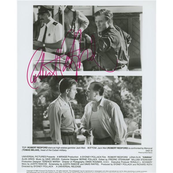 "Robert Redford signed ""Havana"" movie photo"