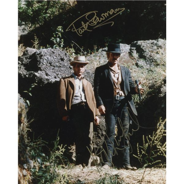 """Paul Newman and Robert Redford signed """"Butch Cassidy and the Sundance Kid"""" signed movie photo"""