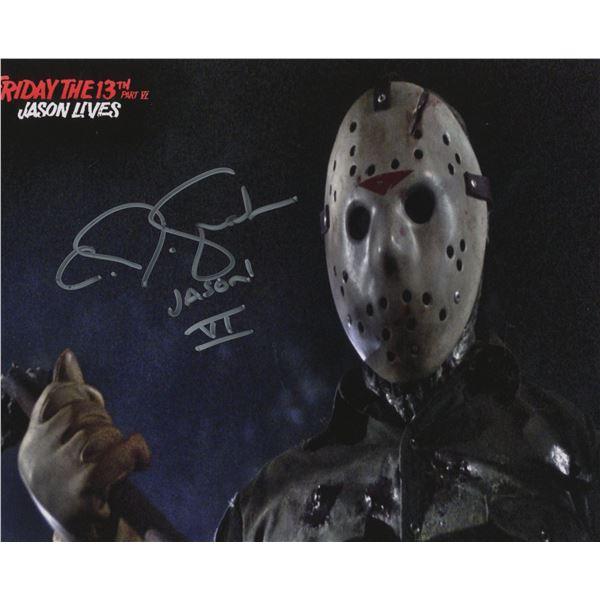 "C.J. Graham signed ""Friday the 13th Part VI: Jason Lives"" movie photo"