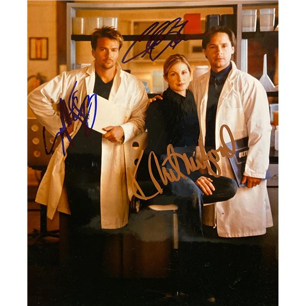 Acceptable Risk Sean Patrick Flanery, Kelly Rutherford, and Chad Lowe signed photo