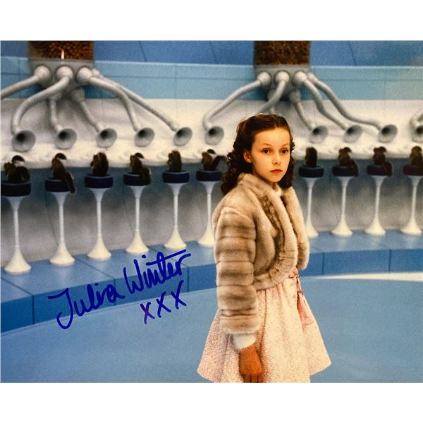 Charlie and the Chocolate Factory Julia Winter signed movie photo