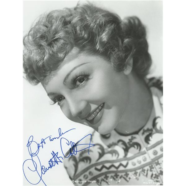Claudette Colbert It Happened One Night signed photo