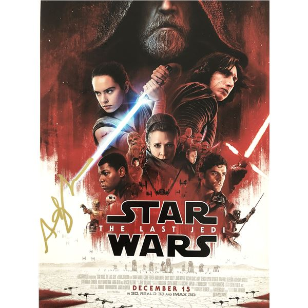 """Andy Serkis signed """"Star Wars: The Last Jedi"""" movie photo"""