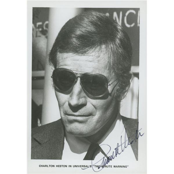 Charlton Heston signed movie photo
