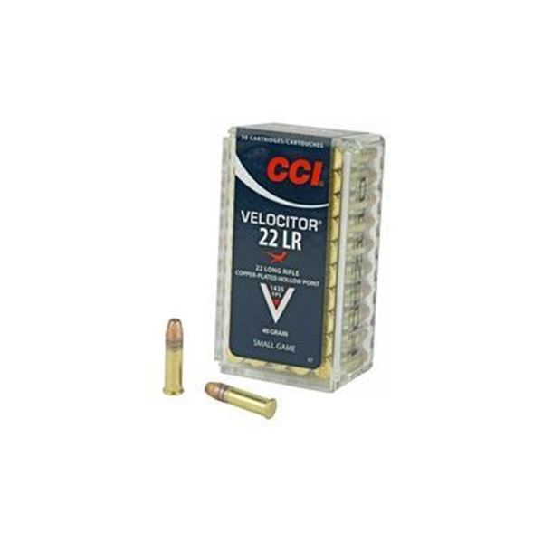 CCI 22LR VELOCITOR 40GR HP - 50 Rds