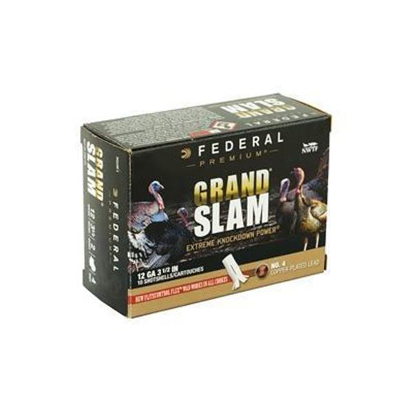 "FED GRAND SLAM 12GA 3.5"" 2OZ #4 - 10 Rds"