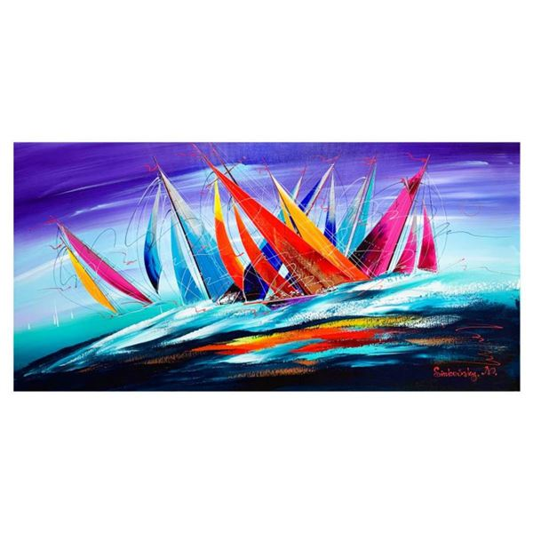 Natalia Sinkovsky, Hand Signed Original Acrylic Painting on Canvas with Letter Authenticity.