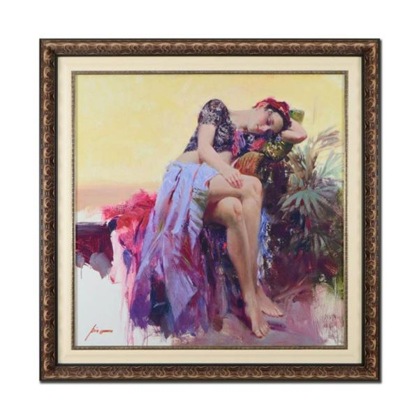 """Pino (1939-2010)- Hand Embellished Giclee on Canvas """"Siesta"""""""