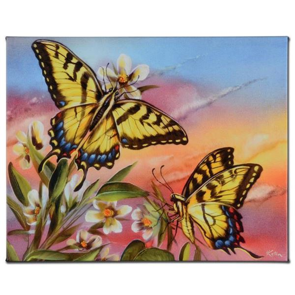 """""""Tiger Swallowtail"""" Limited Edition Giclee on Canvas by Martin Katon, Numbered and Hand Signed. This"""