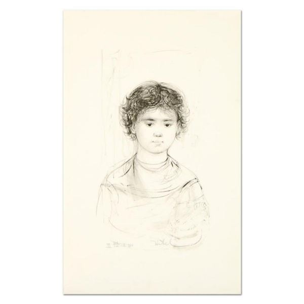 """Edna Hibel (1917-2014), """"Henri"""" Limited Edition Lithograph, Numbered and Hand Signed with Certificat"""