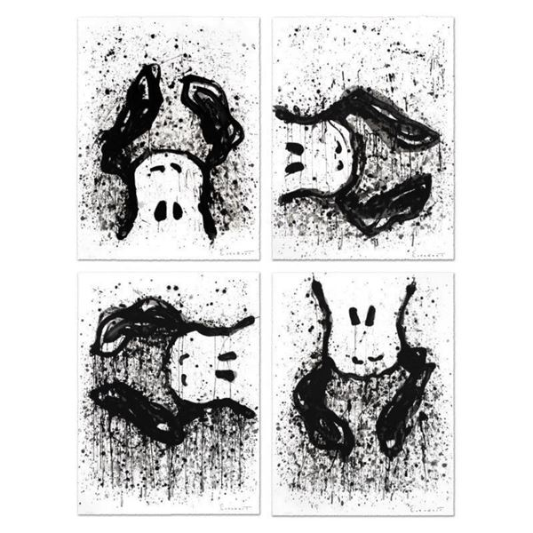 """""""Watchdogs 3-6-9-12 O'Clock"""" Matched Suite of Four Limited Edition Hand Pulled Original Lithographs"""