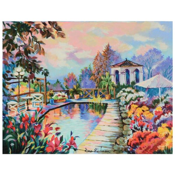"""Zina Roitman, """"Tranquility"""" Limited Edition Serigraph on Canvas Board, Numbered and Hand Signed by t"""