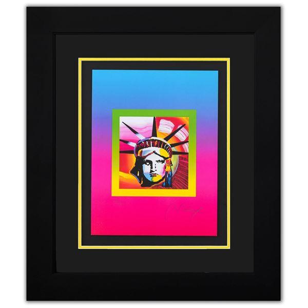 "Peter Max- Original Lithograph ""Liberty Heat on Blends Ver II"""