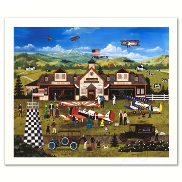 """Jane Wooster Scott, """"Franklin Field's First Annual Air Fair"""" Hand Signed Limited Edition Lithograph"""