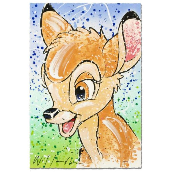 """""""Bambi the Buck Stops Here"""" Disney Limited Edition Serigraph by David Willardson, Numbered and Hand"""