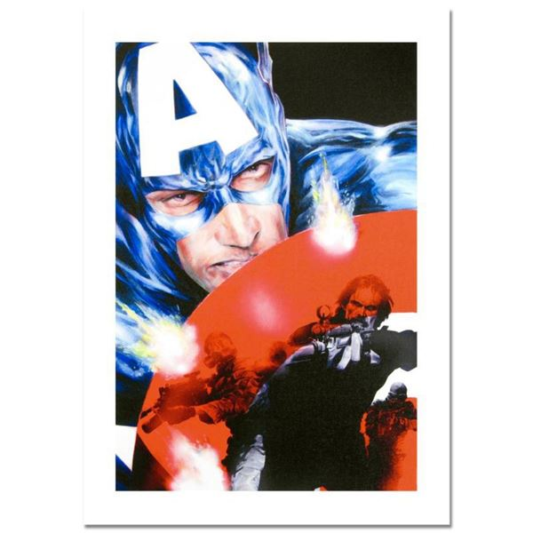 """Marvel Comics, """"Captain America #37"""" Numbered Limited Edition Canvas by Jackson Guice with Certifica"""