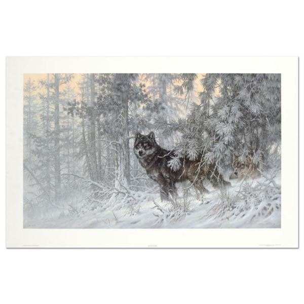 """Larry Fanning (1938-2014), """"Phantom of the North - Wolf"""" Limited Edition Lithograph, Numbered and Ha"""