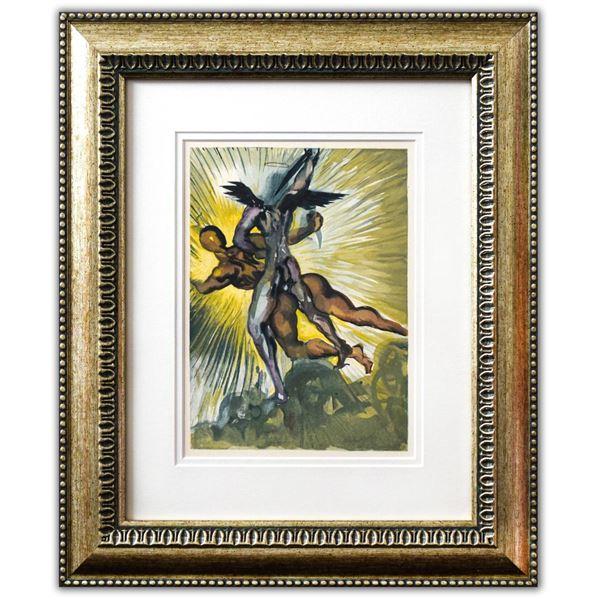 "Salvador Dali- Original Color Woodcut on B.F.K. Rives Paper ""Purgatory 8"""