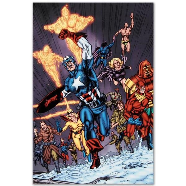 """Marvel Comics """"Avengers/Invader #11"""" Numbered Limited Edition Giclee on Canvas by Steve Sadowski wit"""