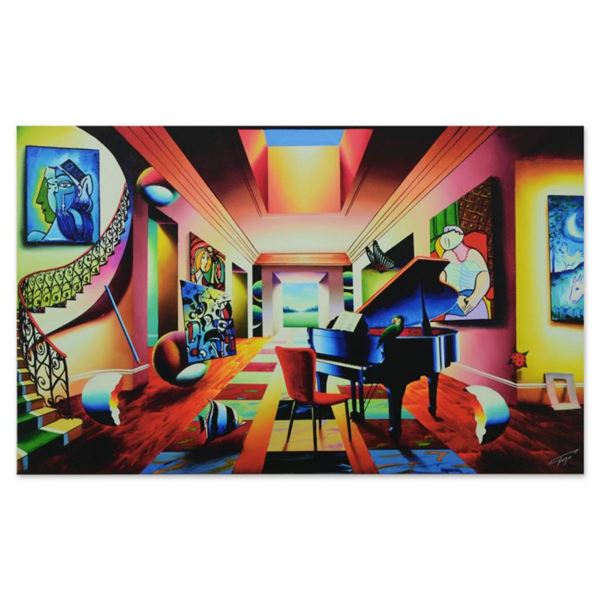 """Ferjo, """"Angelic Music Room"""" Limited Edition on Gallery Wrapped Canvas, Numbered and Signed with Lett"""