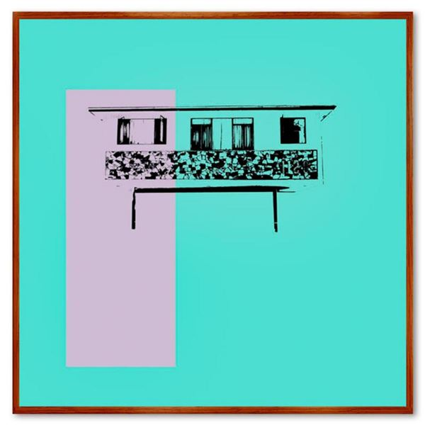 """Claudio Santini, """"Dingbat 3"""" Framed Hand Signed Limited Edition on Canvas with Letter of Authenticit"""