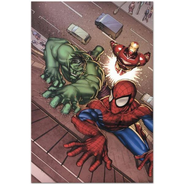 """Marvel Comics """"Marvel Adventures: Super Heroes #3"""" Numbered Limited Edition Giclee on Canvas by Roge"""