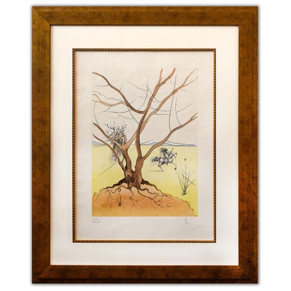 """Salvador Dali- Original Lithograph """"Asher (From Twelve Tribes of Israel Suite)"""""""