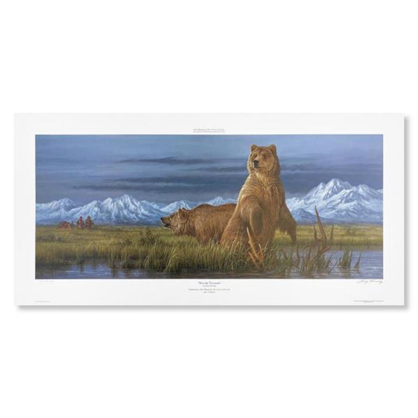"""Larry Fanning, """"Grizzly Encounter (NRA Edition)"""" Hand Signed Limited Edition Lithograph with letter"""