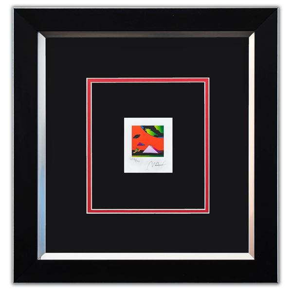 """Peter Max- Original Lithograph """"Jumper with Two Pyramids (Mini)"""""""