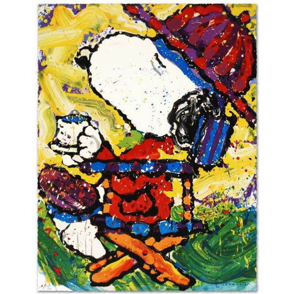 """""""Tea At Bel Air-3:00"""" Limited Edition Hand Pulled Original Lithograph by Renowned Charles Schulz Pro"""