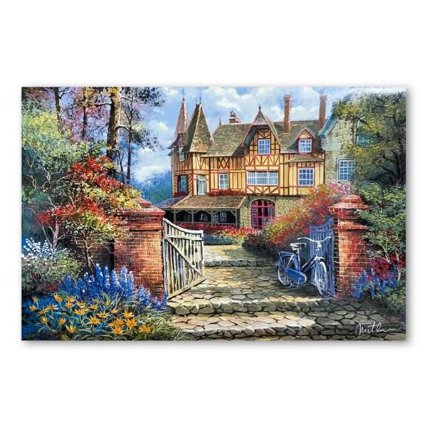 """Anatoly Metlan, """"Castle in the Woods"""" Limited Edition Lithograph, Numbered and Hand Signed with Lett"""